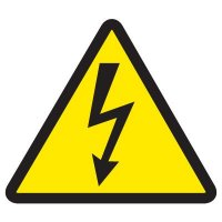 ISO Warning Symbol Labels - High Voltage