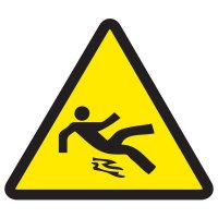 ISO Warning Symbol Labels - Slippery Surface