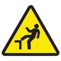 ISO Warning Symbol Labels - Step Off Hazard