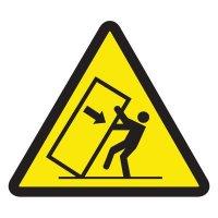 ISO Warning Symbol Labels - Tipping Hazard