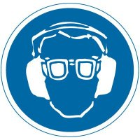 International Symbol Labels - Eye & Ear Protection Required