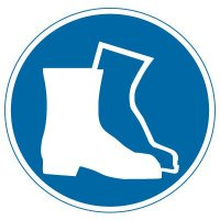 International Symbol Labels - Wear Foot Protection