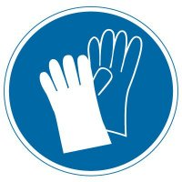 International Symbol Labels - Wear Hand Protection
