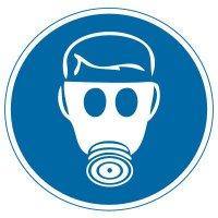International Symbol Labels - Wear Respiratory Protection
