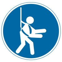 International Symbol Labels - Wear Safety Harness