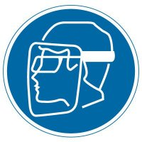 International Symbol Labels - Wear Face, Shield & Eye Protection