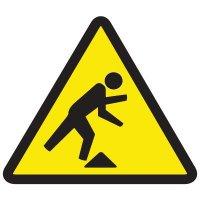 ISO Warning Symbol Labels - Tripping Hazard