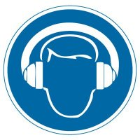 International Symbol Labels - Wear Hearing Protection