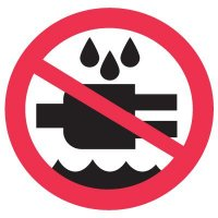 ISO Prohibition Labels - Do Not Expose to Water