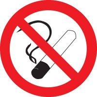 ISO Prohibition Labels - No Smoking