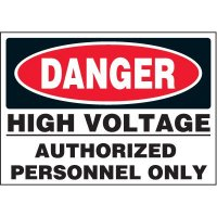 Jumbo Electrical Labels - High Voltage