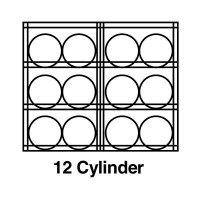 Justrite® Aluminum Cylinder Storage JUSTRITE 23004