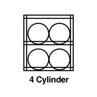Justrite® Aluminum Cylinder Storage JUSTRITE 23001