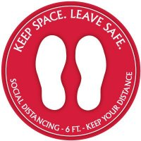 Temporary Floor Markers - Keep Space Leave Safe