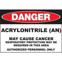 Danger Acrylonitrile Cause Cancer Sign