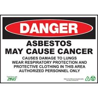 Danger Asbestos May Cause Cancer Sign