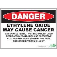Danger Ethylene Oxide Cause Cancer Sign
