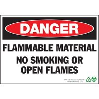 Danger Flammable No Smoking Sign