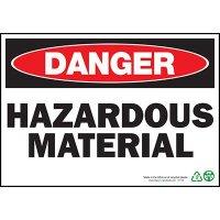 Danger Hazardous Material Sign