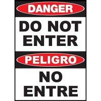 Danger Do Not Enter Sign - Bilingual