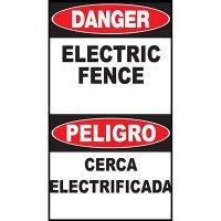 Danger Electric Fence Bilingual Sign