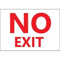 No Exit Sign, Red on White