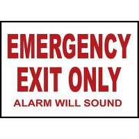 Emergency Exit Only Alarm Sound Sign