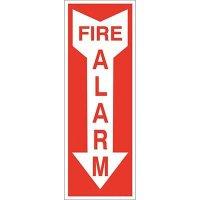 Fire Alarm with Arrow Sign