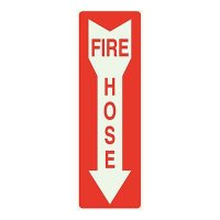 Fire Hose with Arrow Sign