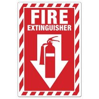 Fire Extinguisher Picto Sign Down Arrow