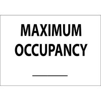 Maximum Occupancy Blank Sign