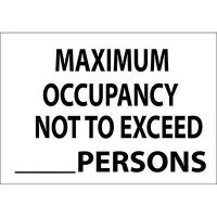 Maximum Occupancy Exceed Blank Sign