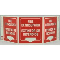 Fire Extintinguisher Tri View Sign - Bilingual
