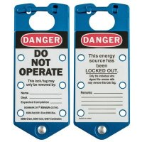 Brady 65962 Labeled Lockout Hasps (Blue) - Pack of 5