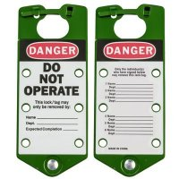 Brady 65963 Labeled Lockout Hasps (Green) - Pack of 5