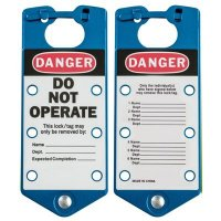 Brady 65972 Labeled Lockout Hasps (Blue) - Pack of 5