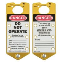 Brady 65964 Labeled Lockout Hasps (Gold) - Pack of 5
