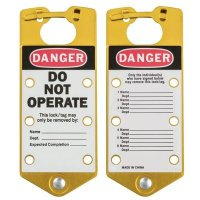 Brady 65974 Labeled Lockout Hasps (Gold) - Pack of 5