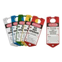 Brady 65967 Labeled Lockout Hasps (Mixed Colors) - Pack of 5