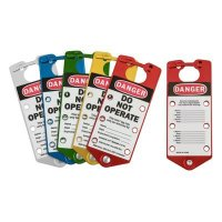 Brady 65975 Labeled Lockout Hasps (Mixed Colors) - Pack of 5