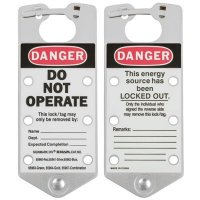 Brady 65961 Labeled Lockout Hasps (Silver) - Pack of 5
