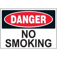 Danger No Smoking Label