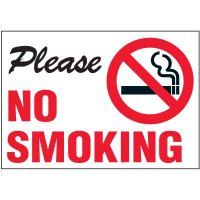 Please No Smoking Label