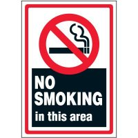 No Smoking In This Area Label