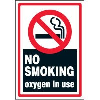 No Smoking Oxygen In Use Label