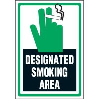 Smoking Area Label