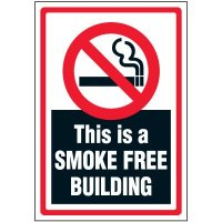 Smoke Free Building Label
