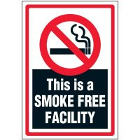 Smoke Free Facility Label