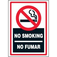 Bilingual No Smoking Label