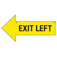 Left Exit Arrow Signs